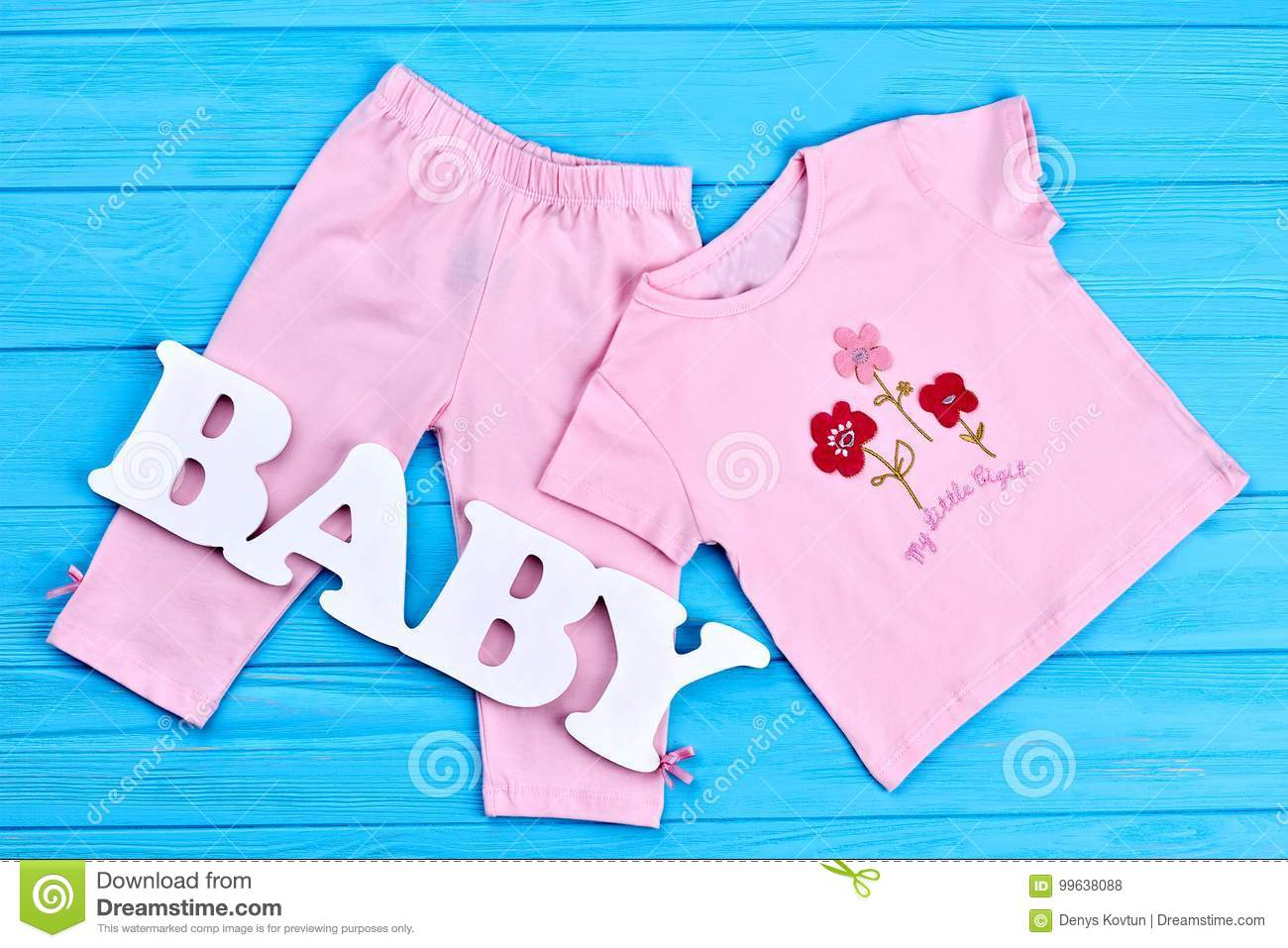 f84821cfd93b Baby-girl Summer Cotton Garment. Stock Photo - Image of infant ...
