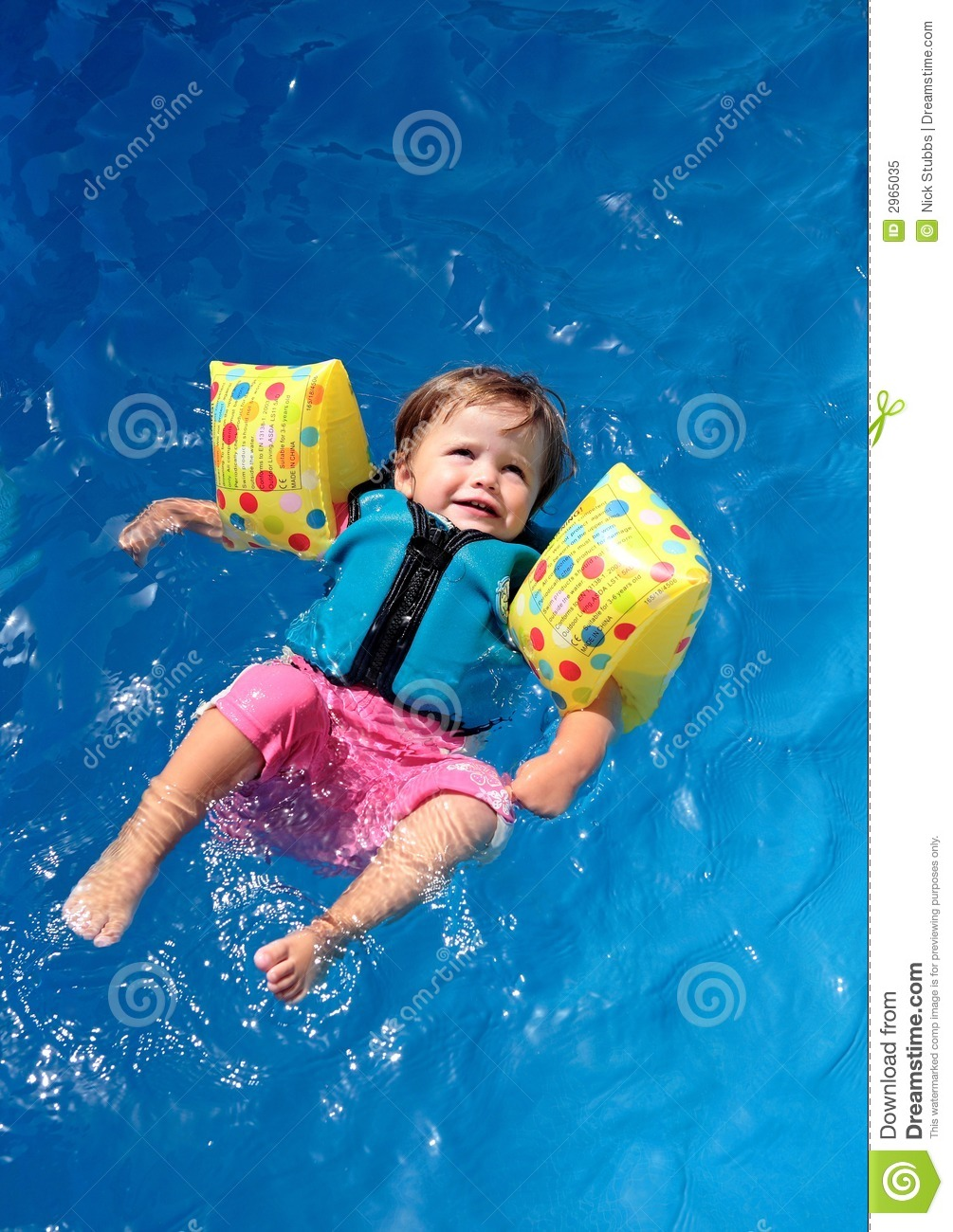 Baby Girl In Swimming Pool Royalty Free Stock Photo Image 2965035