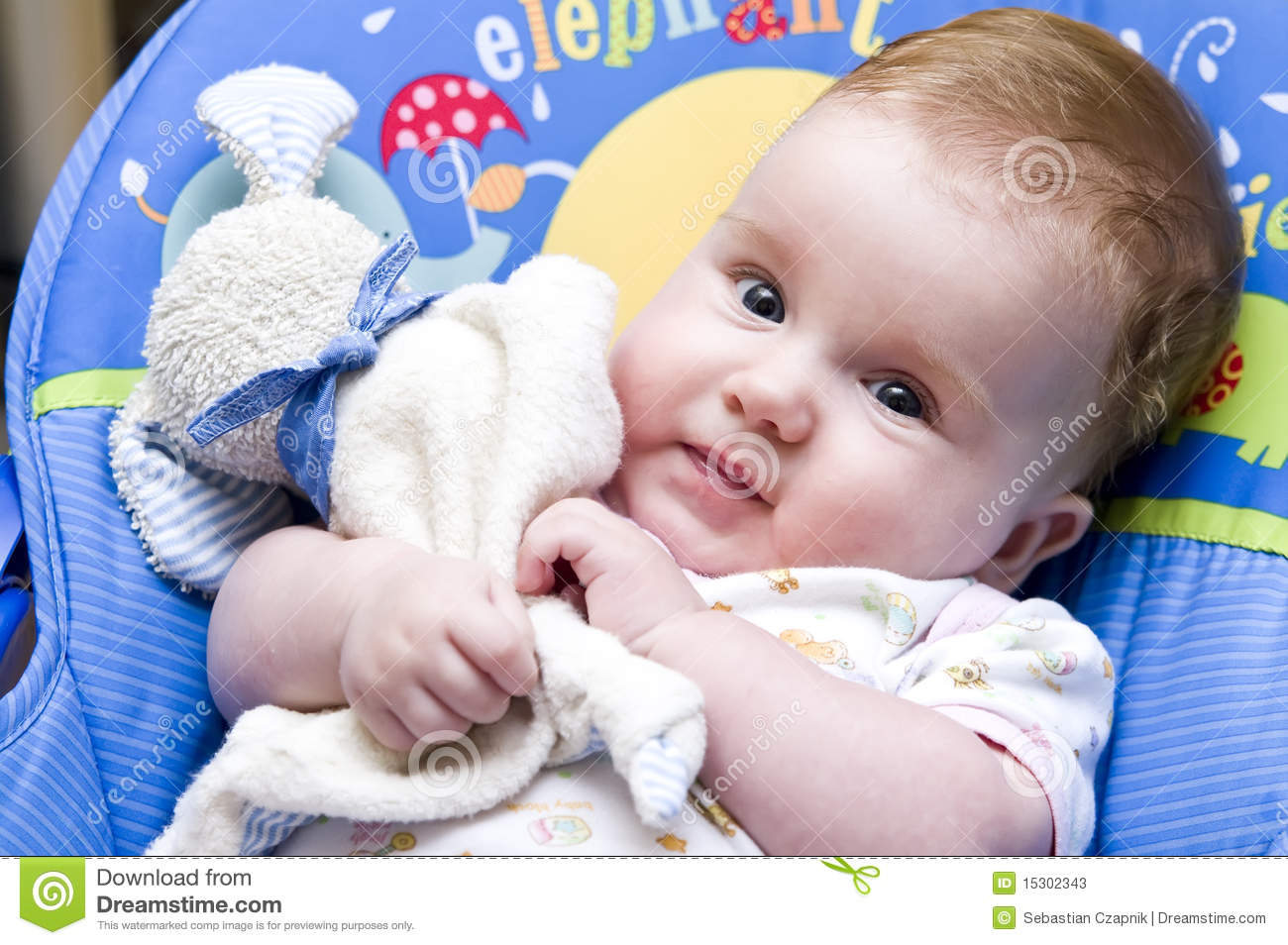 baby girl with teddy bear stock image. image of embracing - 15302343