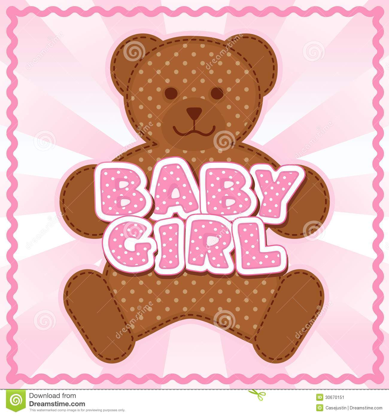 Baby Girl Teddy BearBaby Girl Teddy Bear
