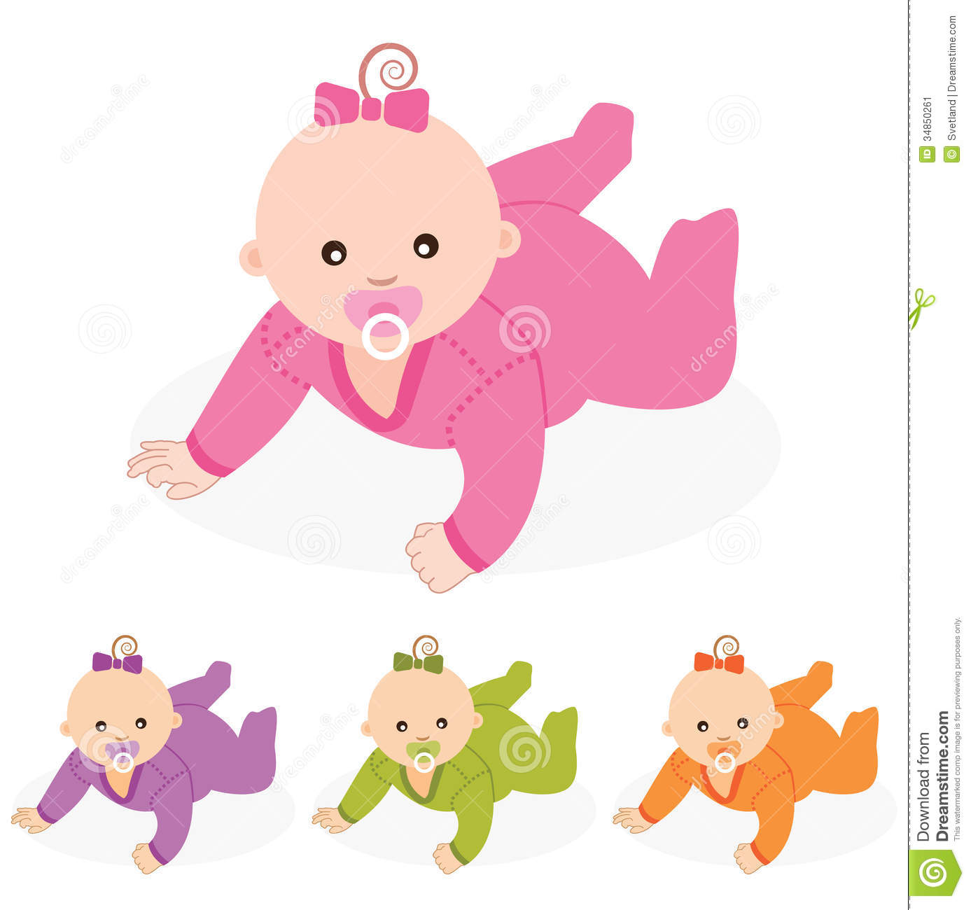 Baby Girl.Vector Illustration. Stock Image - Image: 34850261