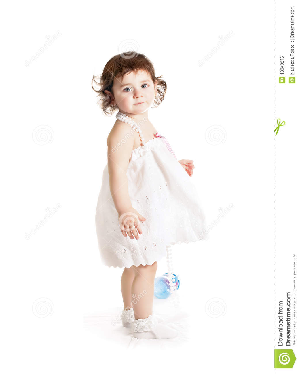 Baby Girl White Dress - Dress Xy
