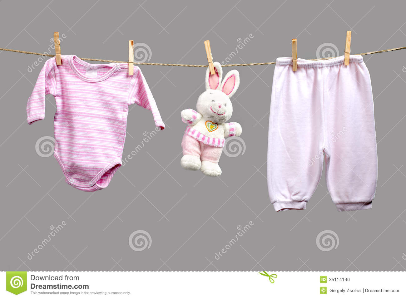 Baby Girl Y Clothes The Clothesline Stock Image