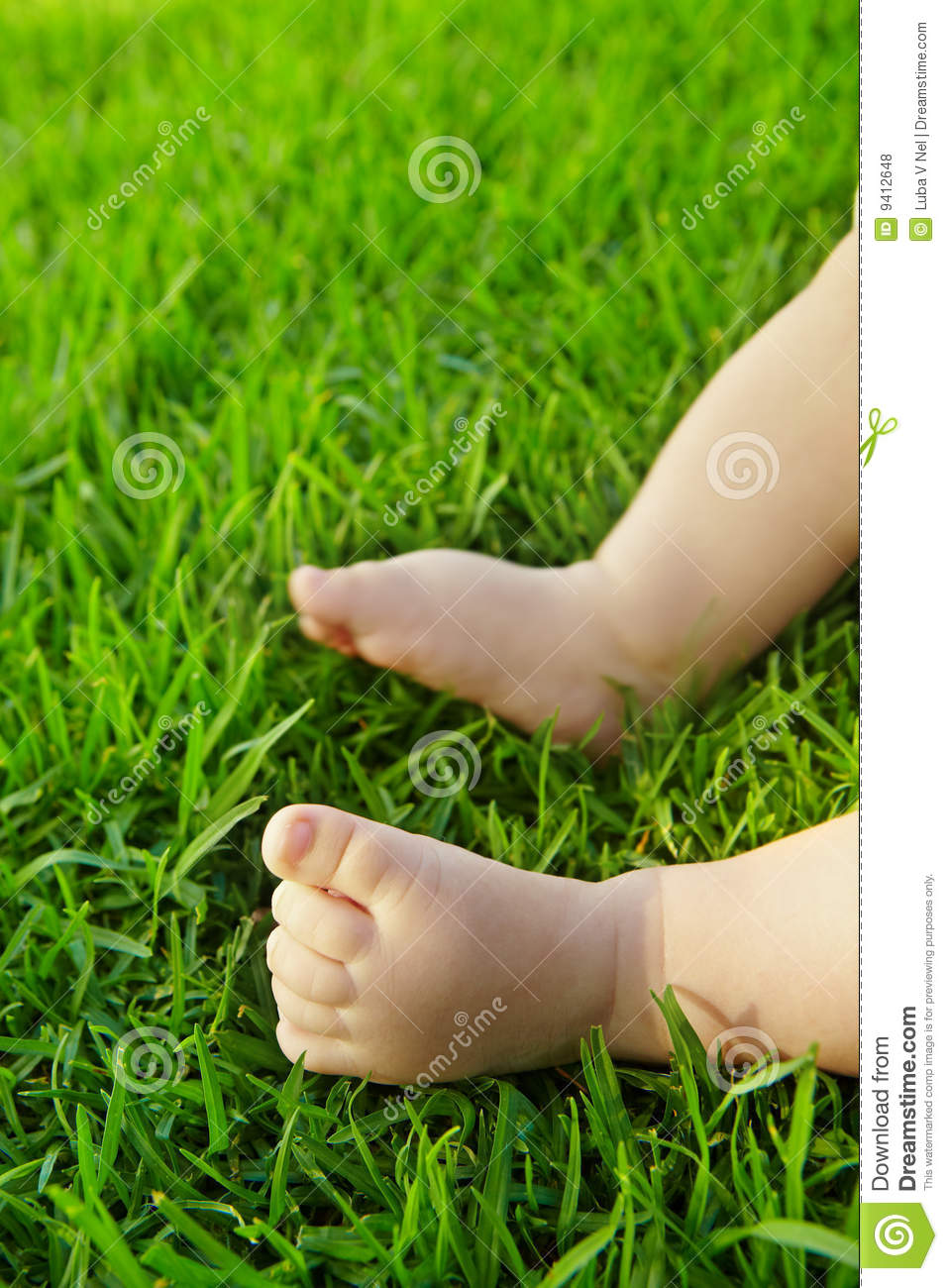 Baby On Grass. Royalty Free Stock Photos