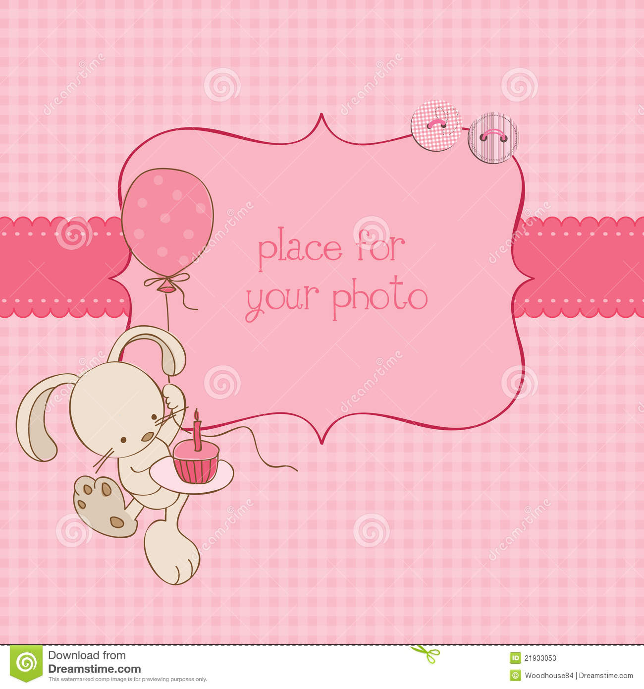 Baby greeting card with photo frame stock vector illustration of download baby greeting card with photo frame stock vector illustration of balloon design m4hsunfo