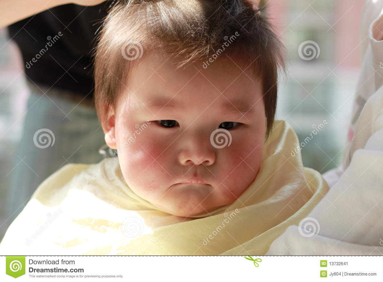 Baby Haircut Stock Image Image Of Infant Expression 13732641