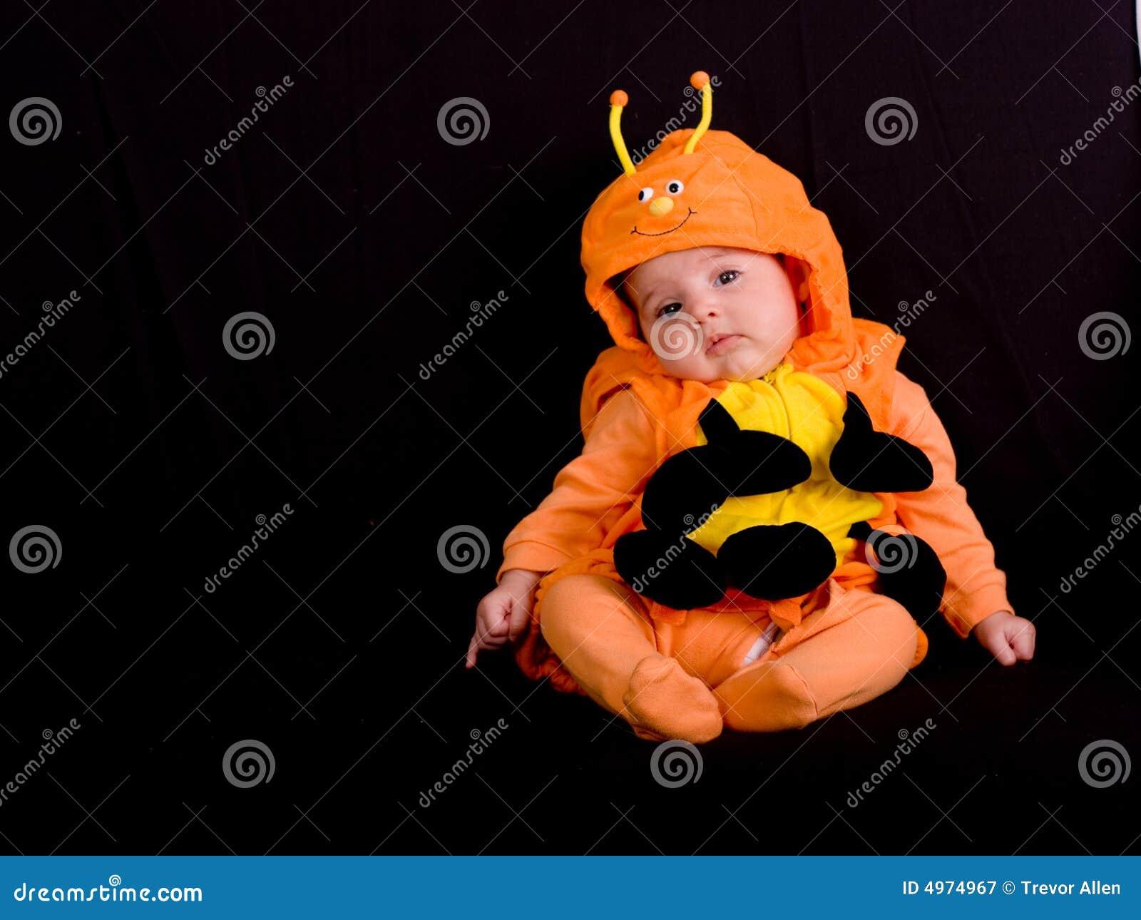 Baby In Halloween Costume 3 Stock Image - Image of girl