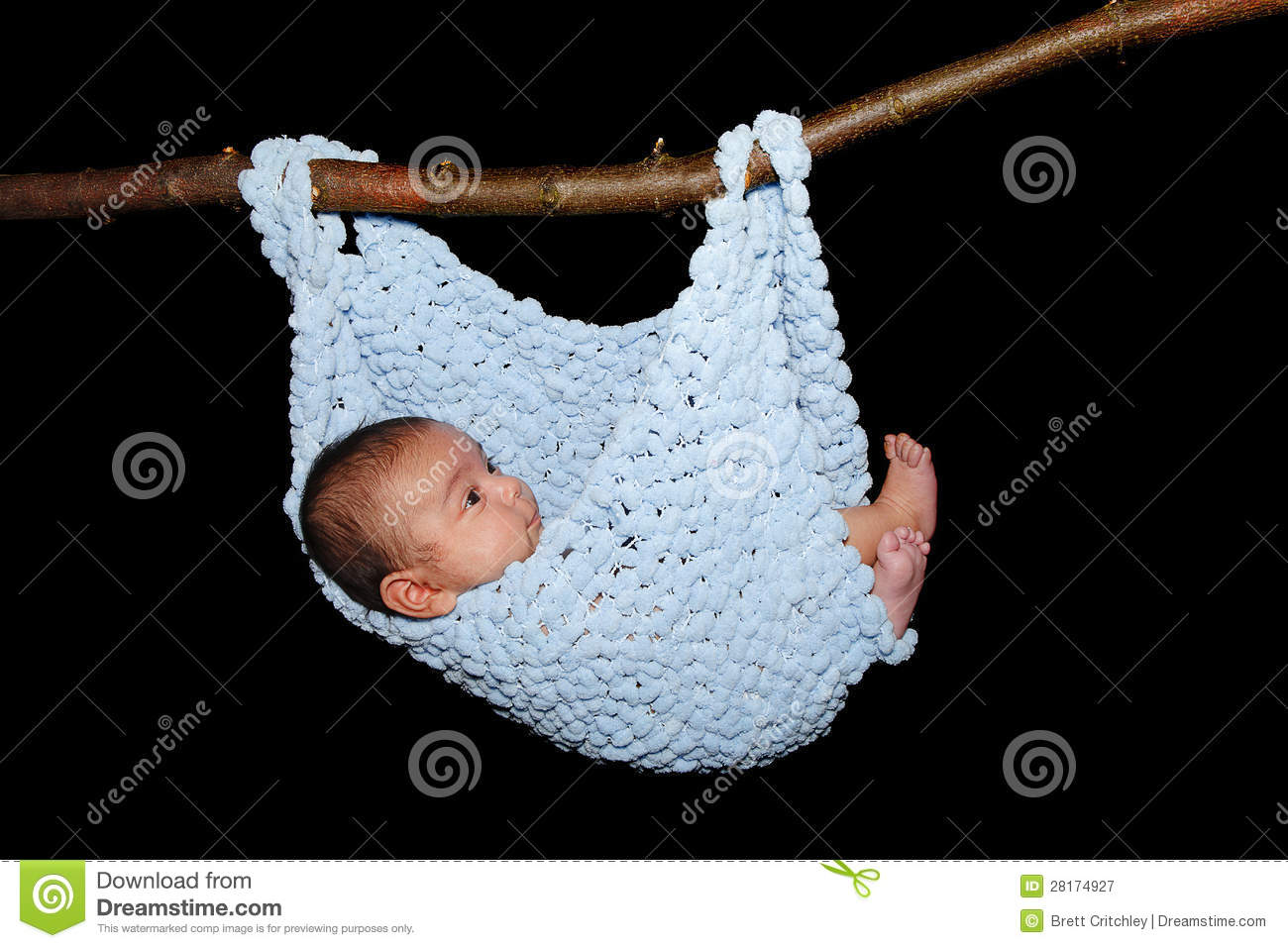 Baby In Hammock Royalty Free Stock Photography Image
