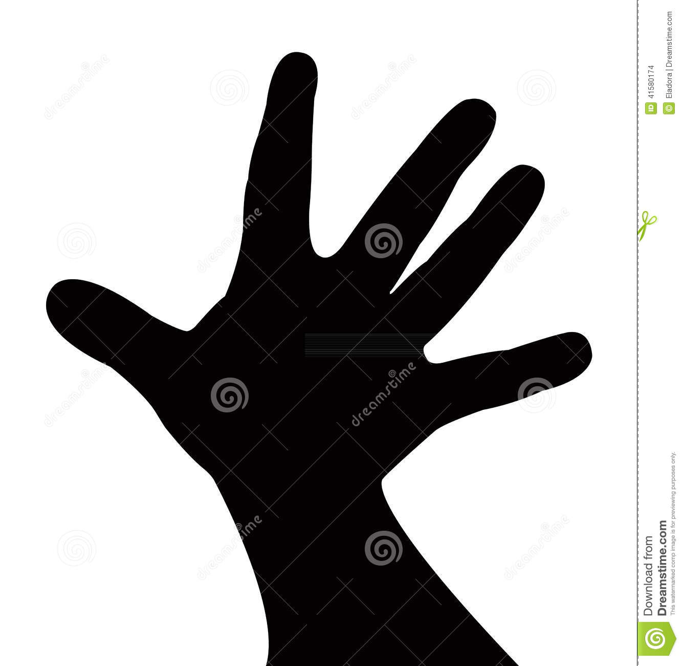 Baby hand silhouette vector stock vector image 41580174