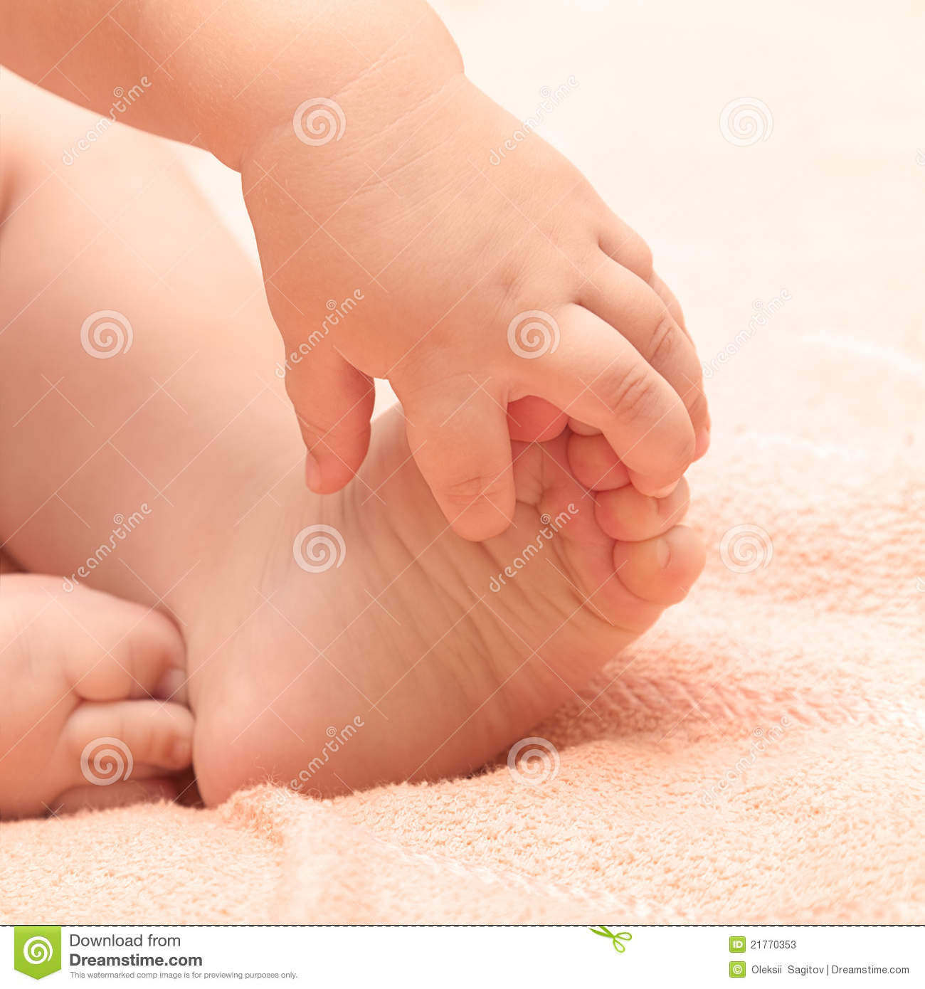 Baby Hands And Feet Stock Photos - Image: 21770353