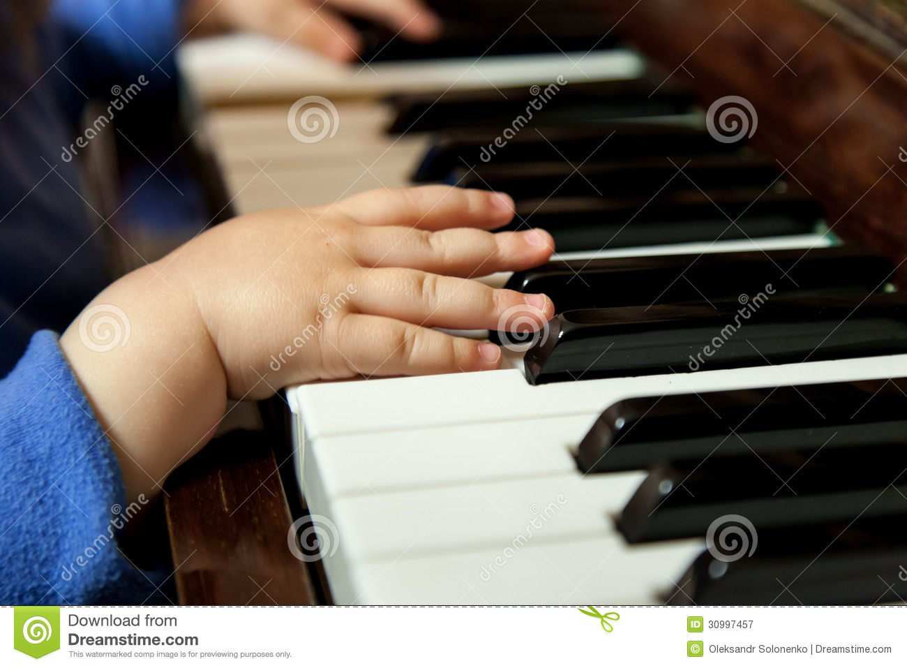 Baby Hands Playing Piano Royalty Free Stock Photography ...