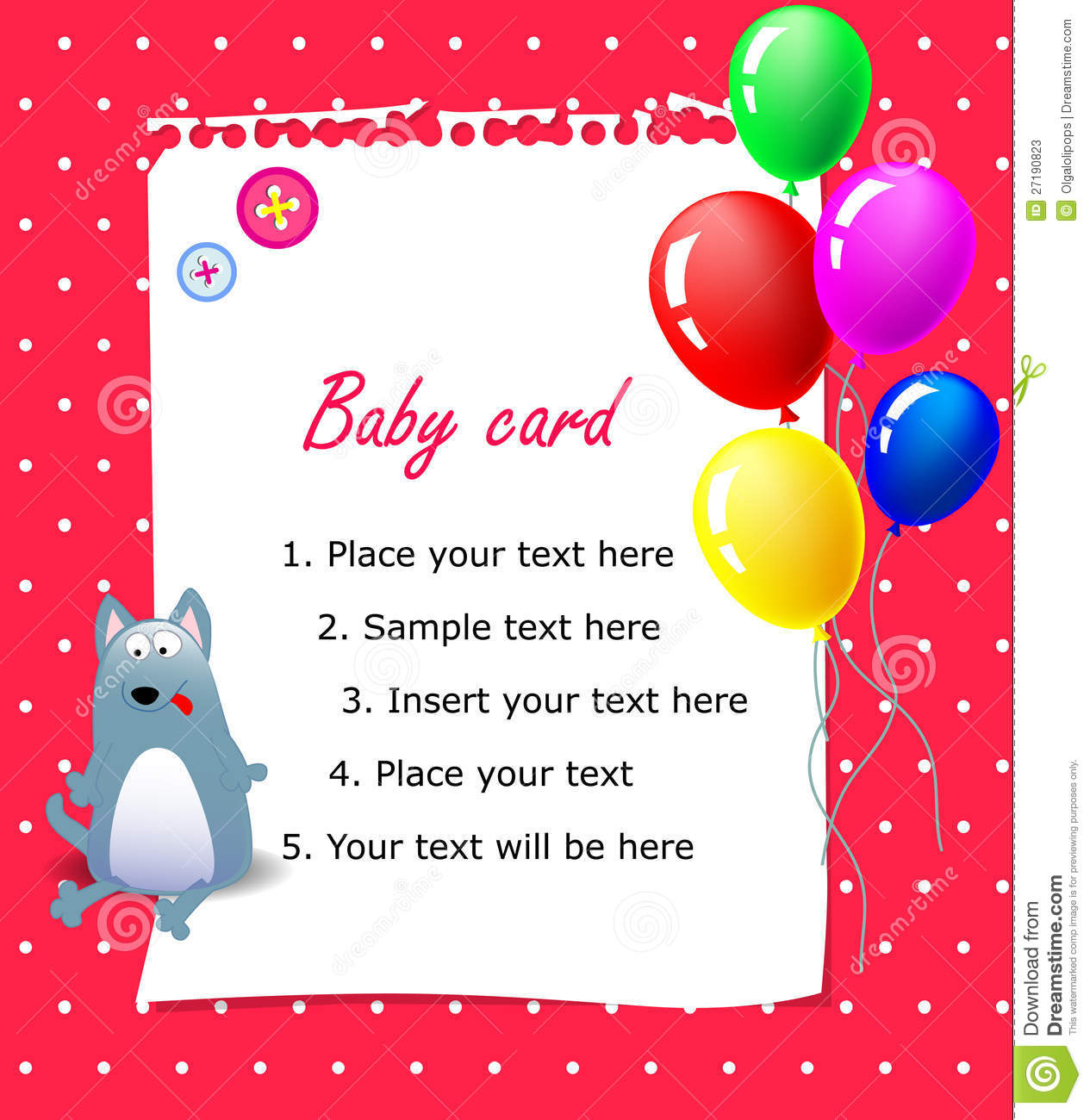 baby happy birthday card pink stock photos
