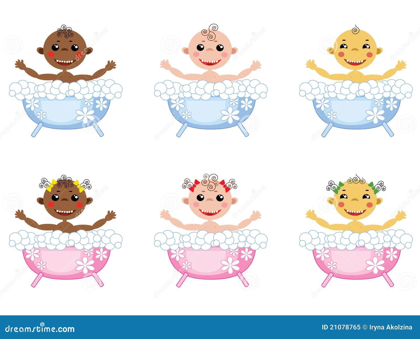 Baby in het bad reeks pictogrammen royalty vrije stock foto afbeelding 21078765 for Foto in het bad
