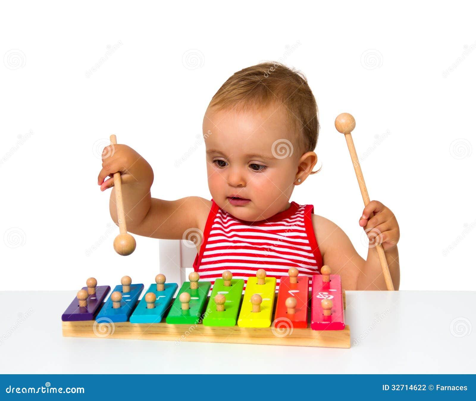 Baby het spelen xylofoon