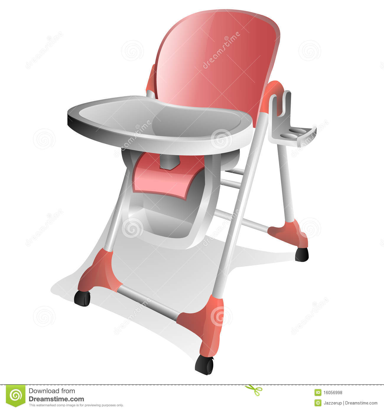 baby high chair royalty free stock photos image 16056998 Graphic Cartoon School Lunch Trays Art Lunch Tray