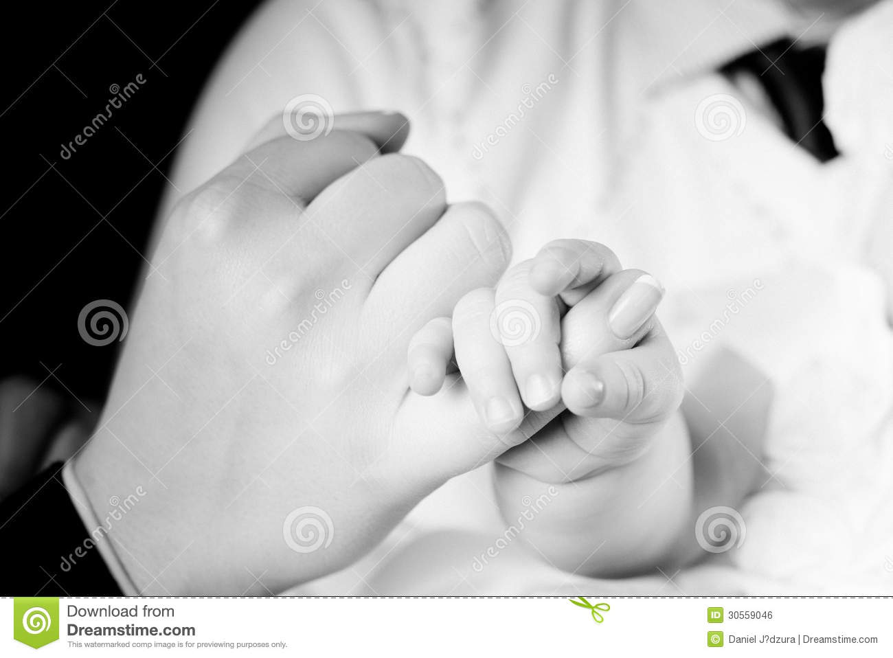 Baby Holding A Finger Of Mother Royalty Free Stock Image ...