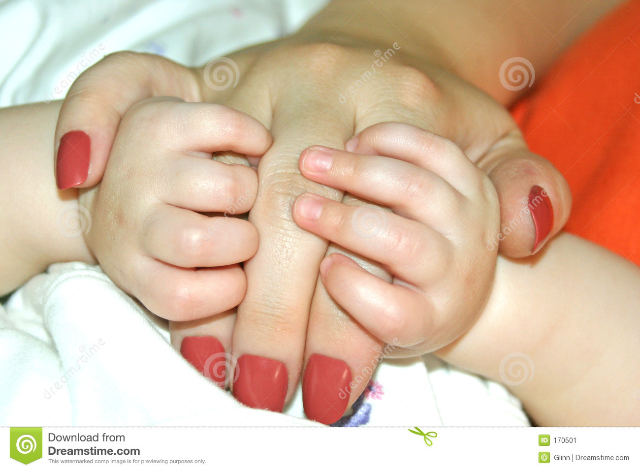 Baby Holds Mother s Hand