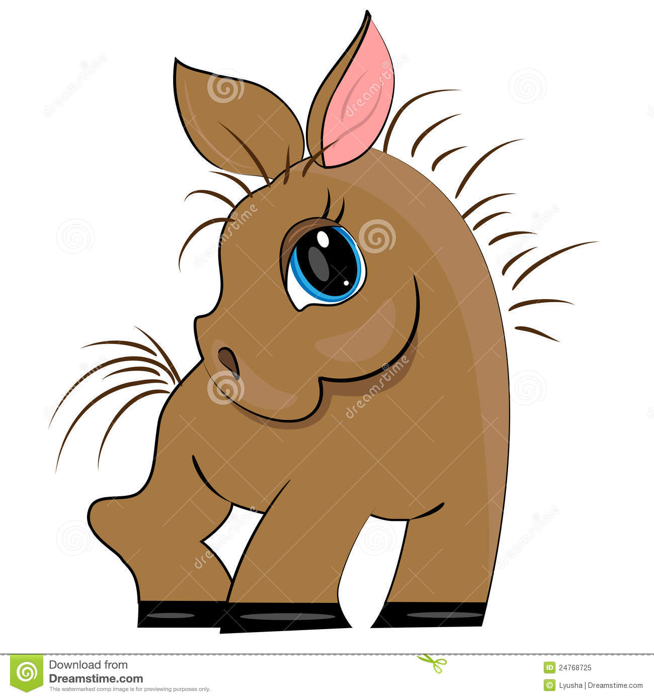 how to draw a cute cartoon baby horse