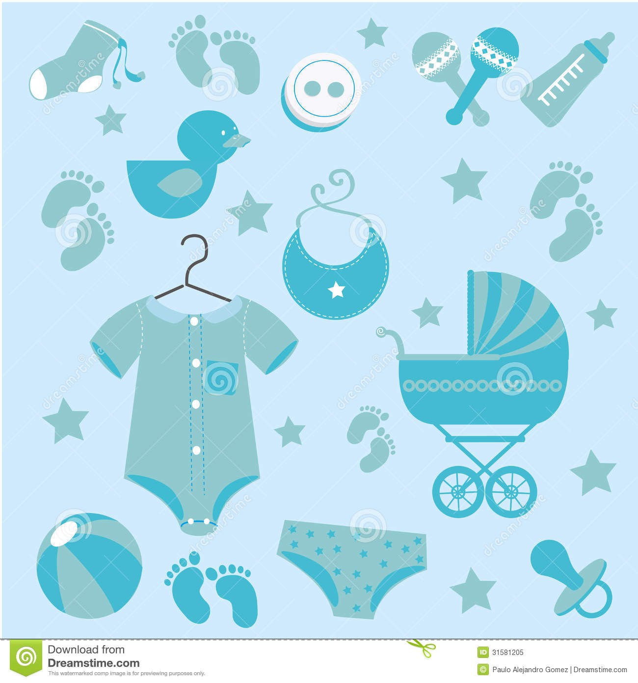 Baby Icons Skin Royalty Free Stock Photo Image 31581205