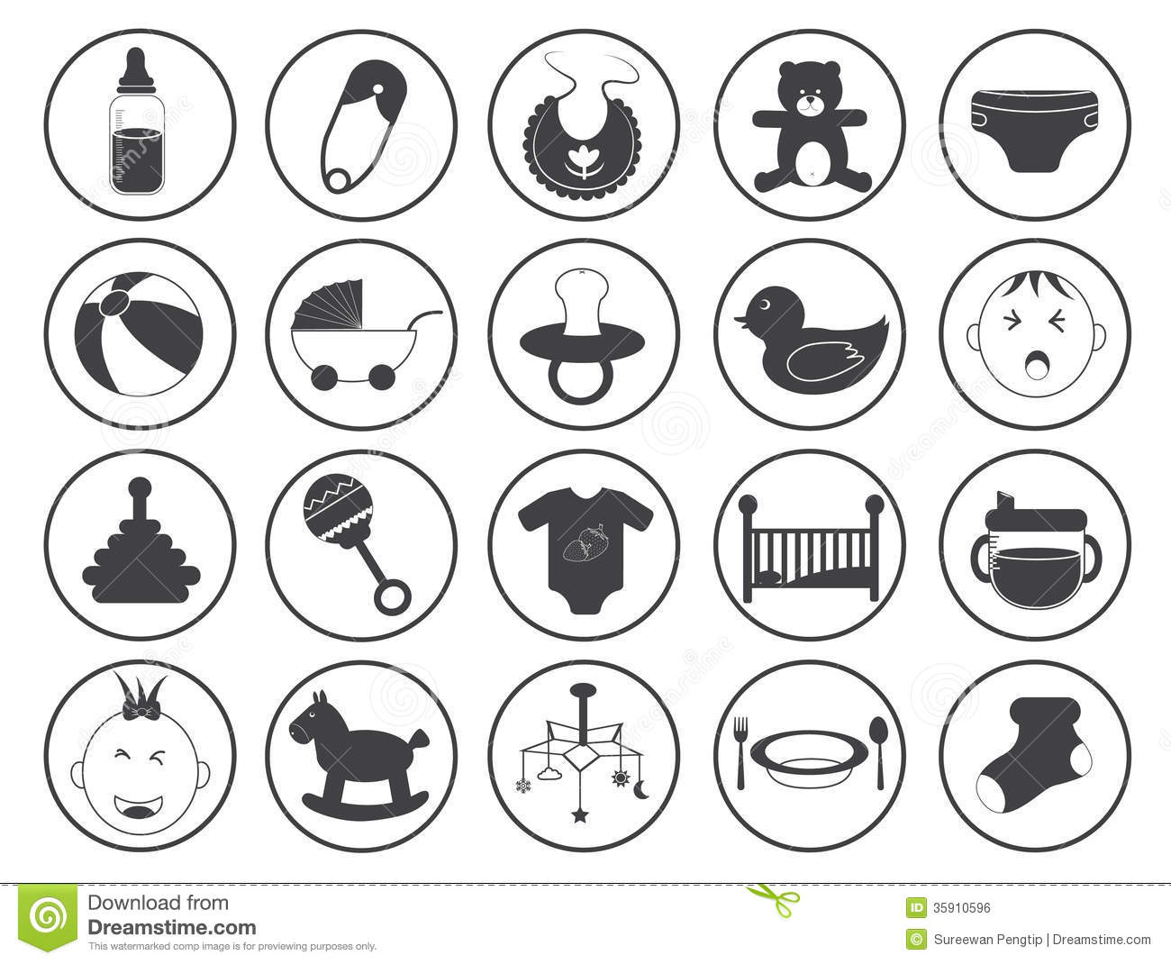 baby icons vector collection royalty free stock image bear paw clip art free bear print clip art png
