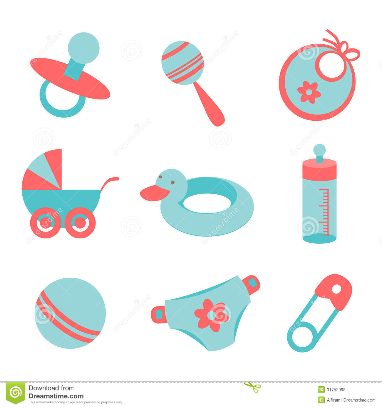 Baby Icons Royalty Free Stock Photos - Image: 31752998