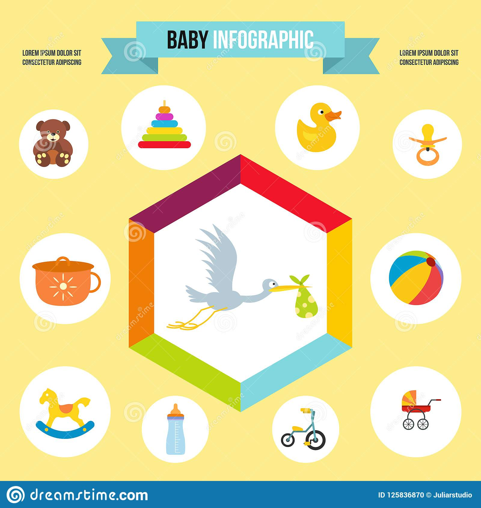 Baby Infographic Birthday Template