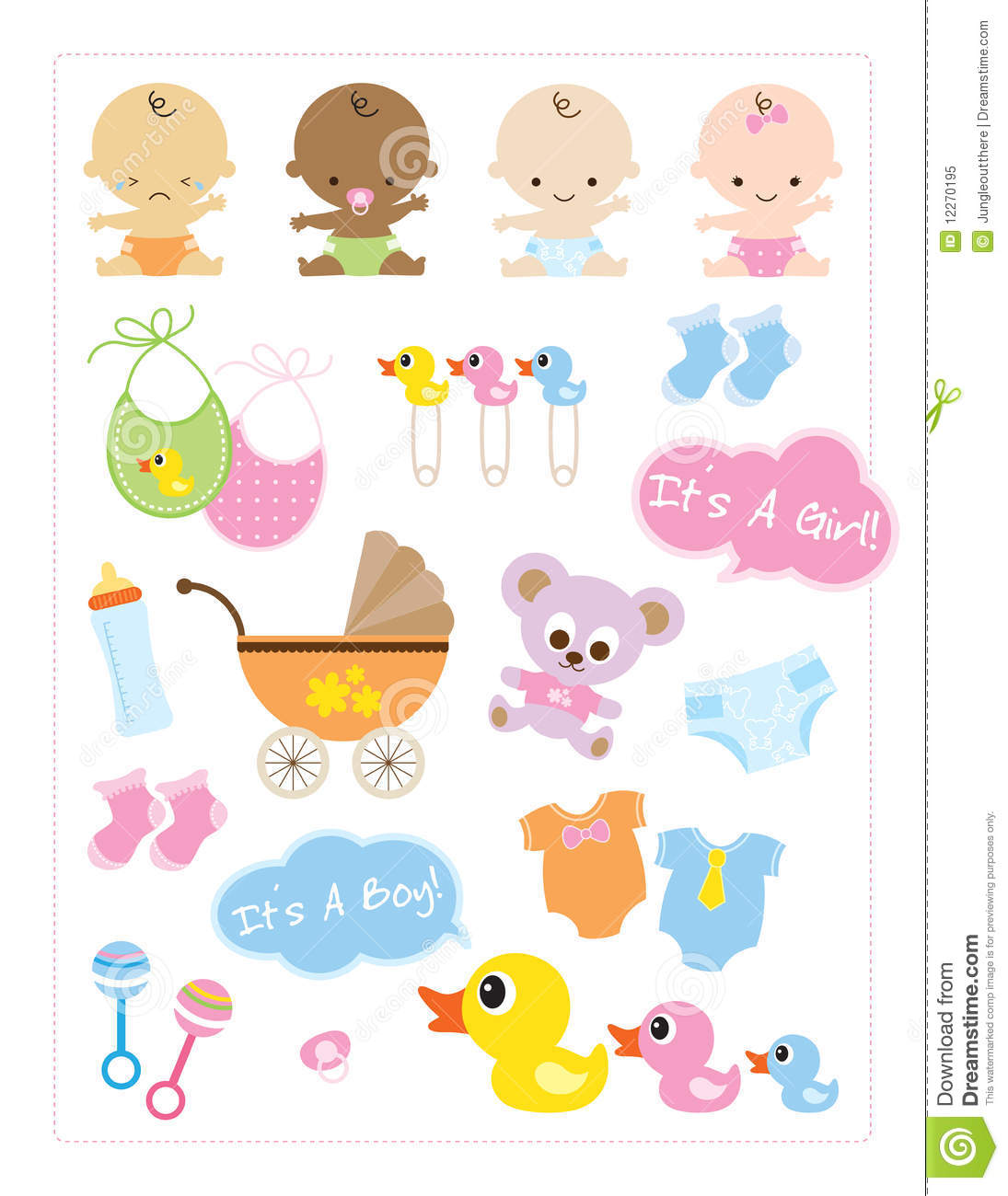 Baby Items Stock Vector Illustration Of American Milk