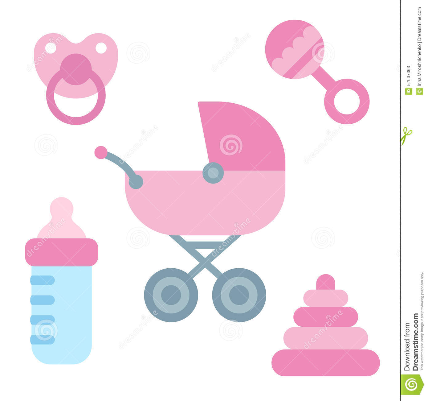 Baby Items Stock Vector - Image: 57037363