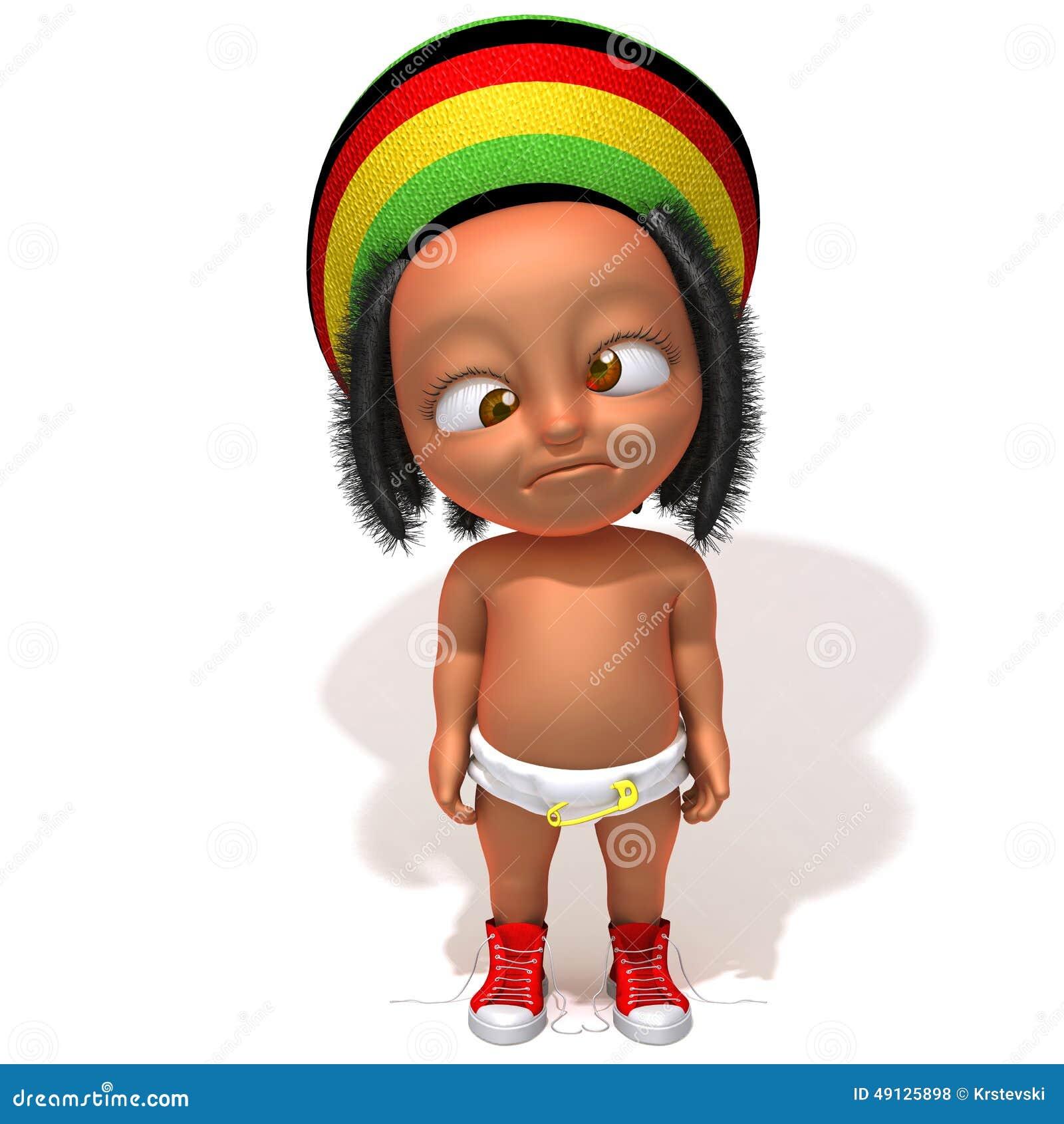 Baby Jake Rastafarian 3d Illustration Stock Illustration ...
