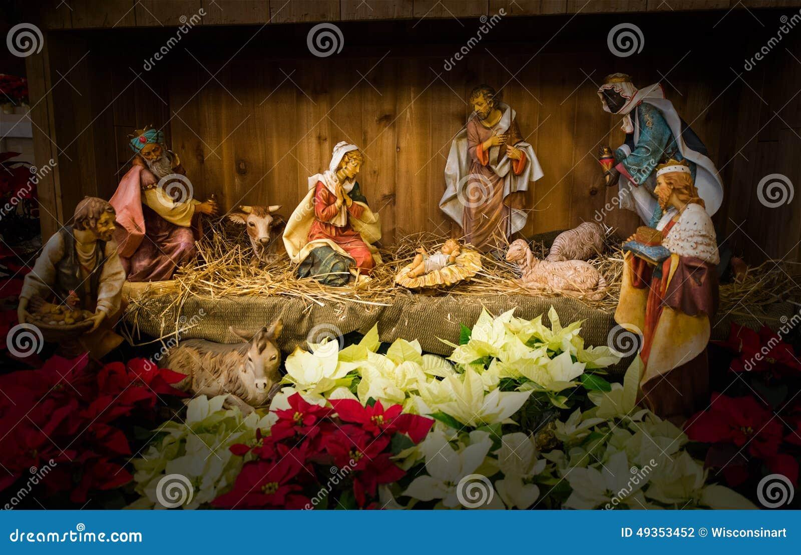 Baby Jesus Christmas Nativity Scene Stock Photo - Image of jesus ...