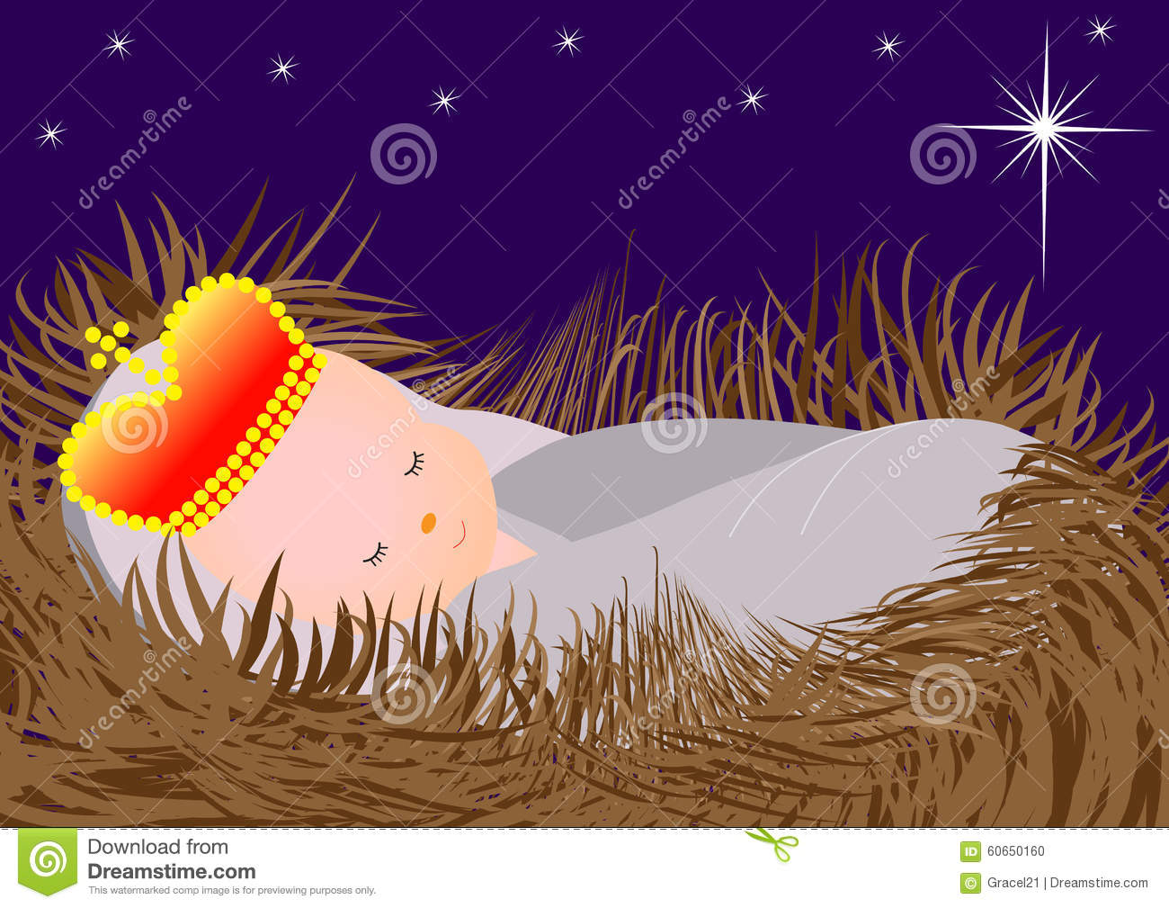 Baby Jesus in the manger stock vector. Image of child ...   1300 x 1009 jpeg 192kB