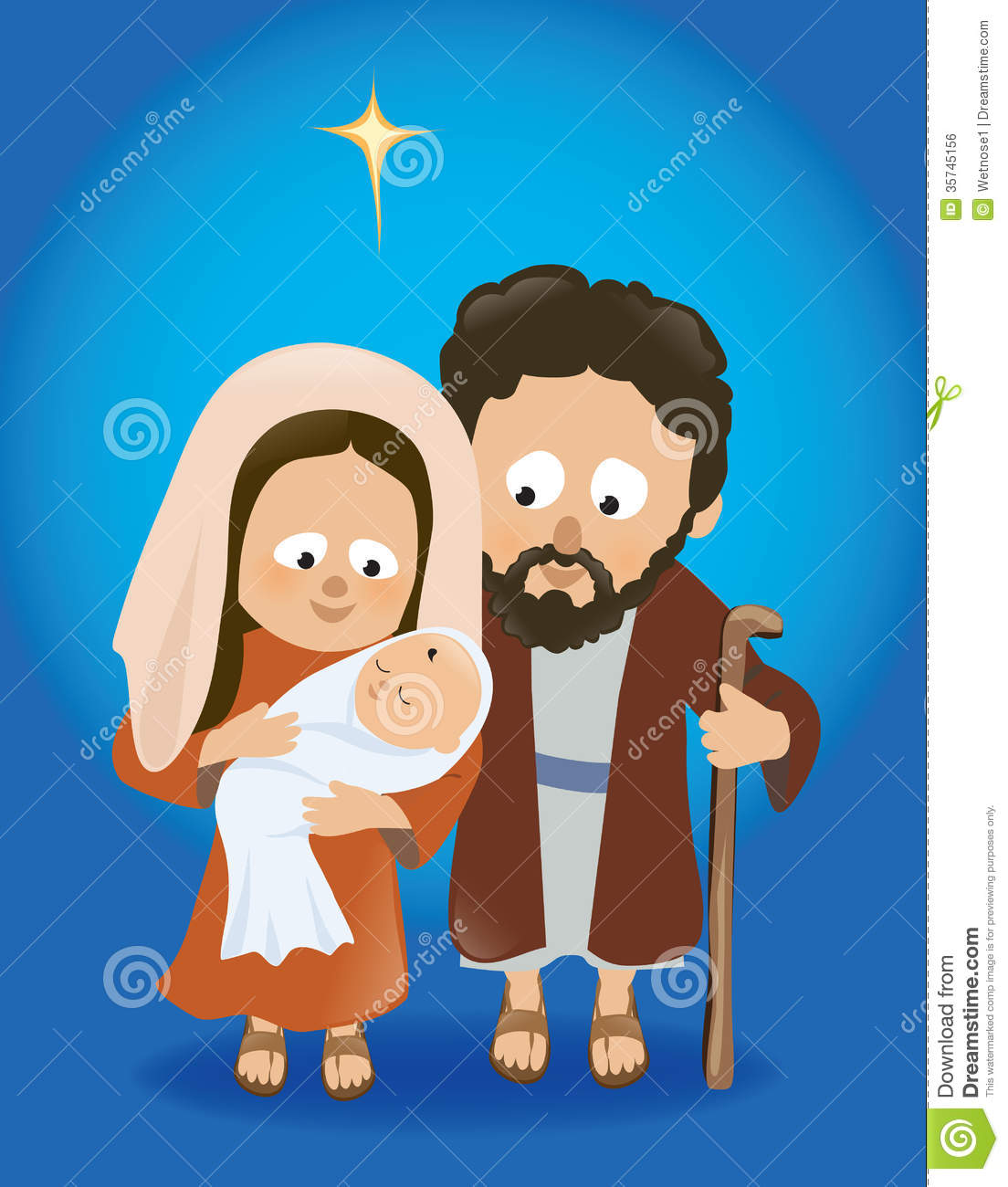 Baby jesus with mary and joseph royalty free stock image image
