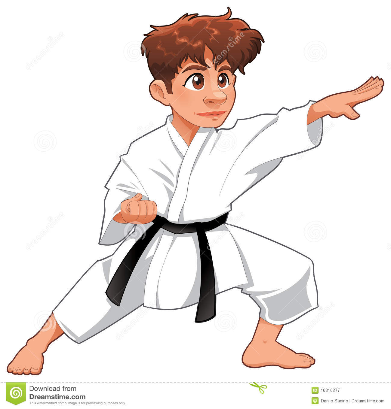 Baby Karate Player. Royalty Free Stock Photography - Image: 16316277