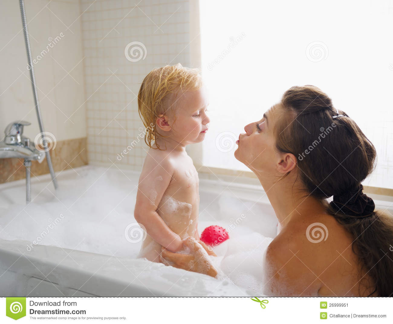 Mother Son Bath Together Stock Photo Getty Images Free