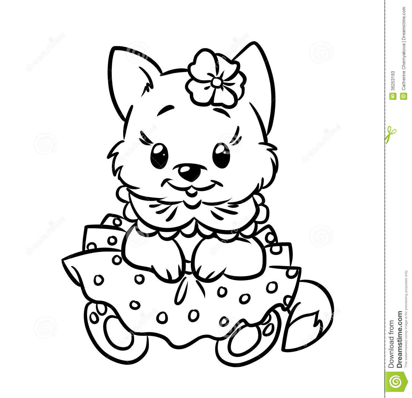 Baby Kitten Coloring Pages Stock Photos Image 36253193