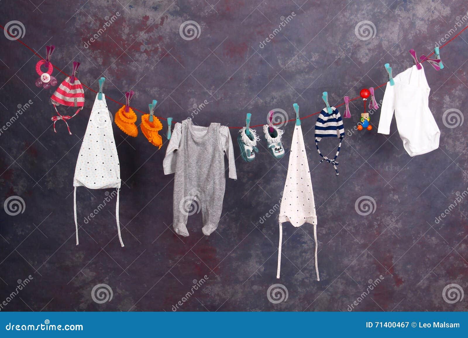 Baby Kleidung Stockbild Bild Von Wäscherei Zubehör 71400467