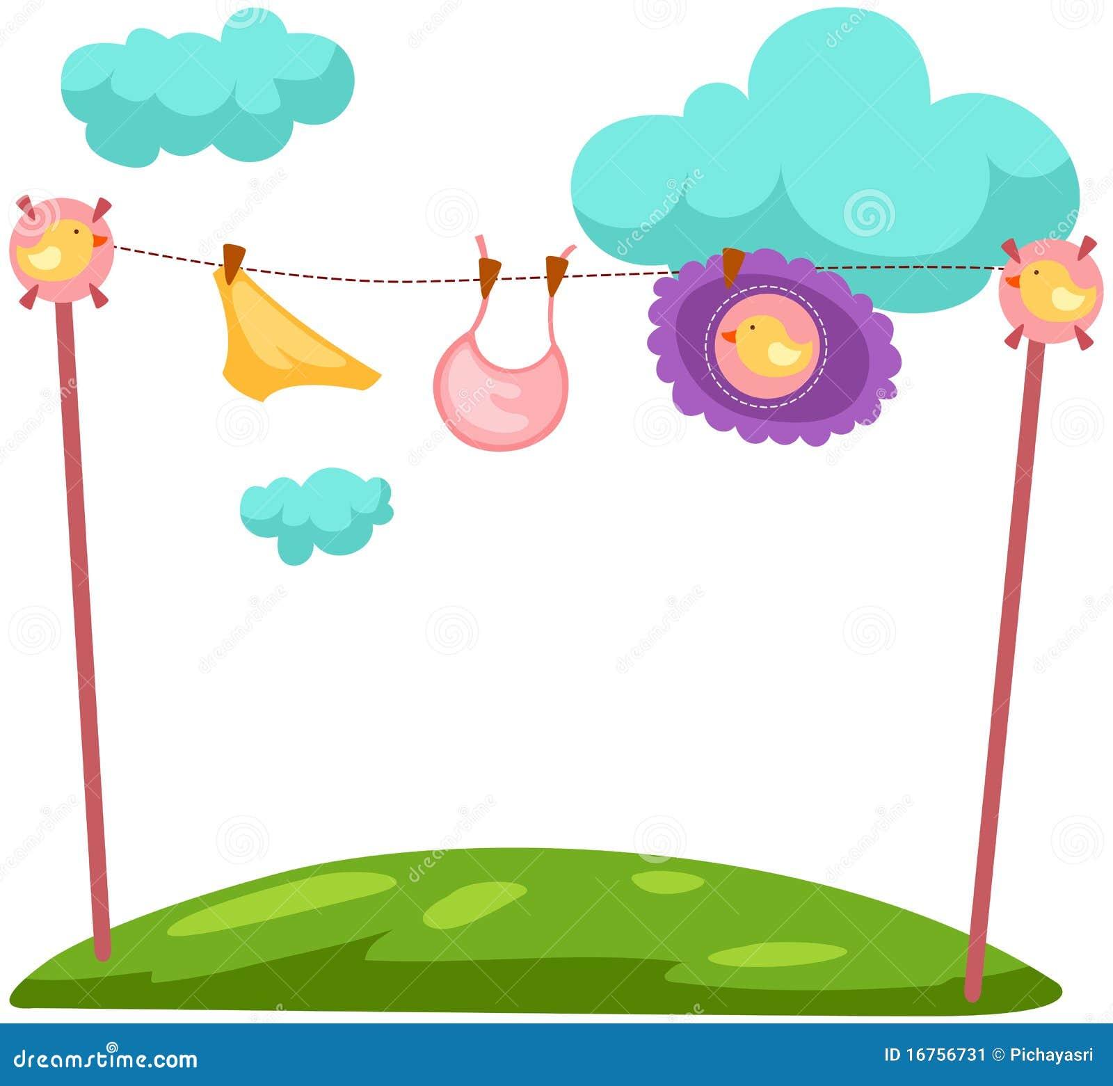 Baby Laundry Stock Image Image