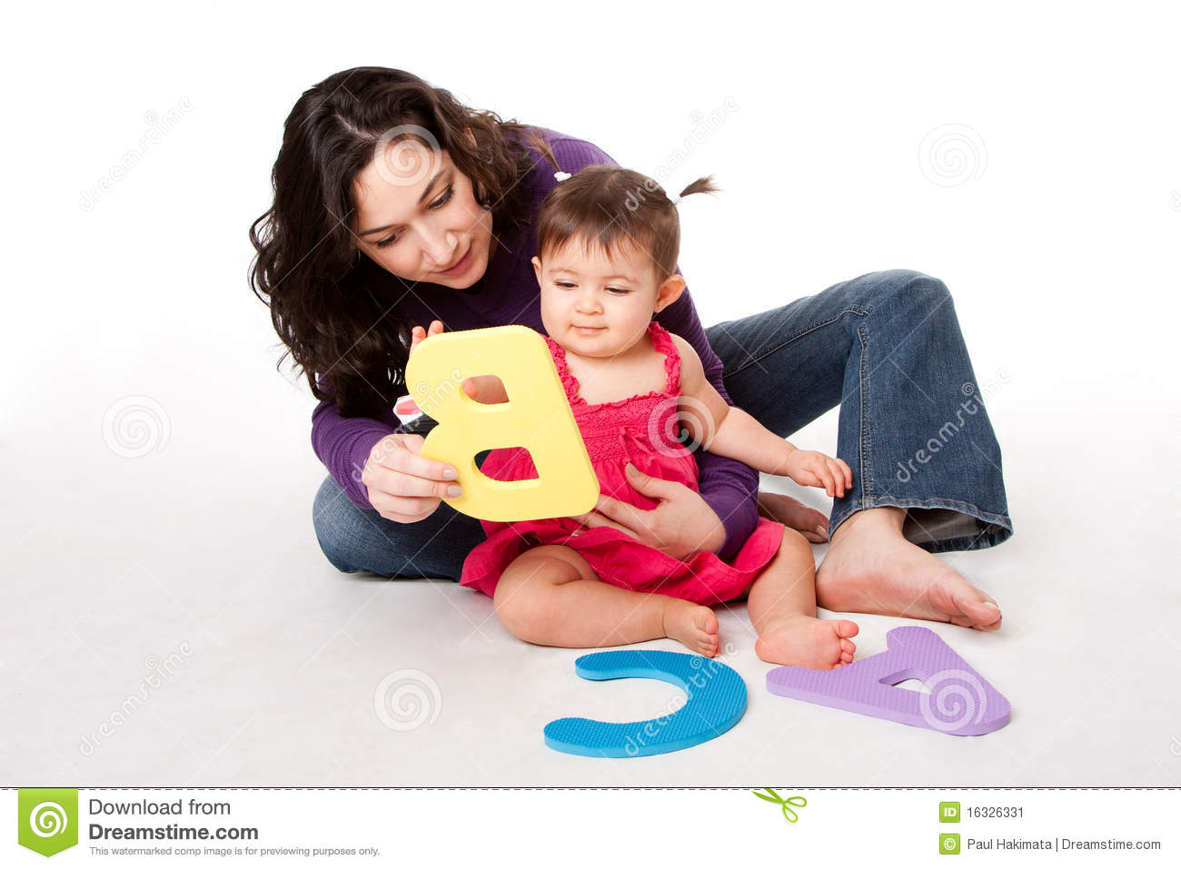 baby learning alphabet abc stock image image 16326331 With baby learning letters