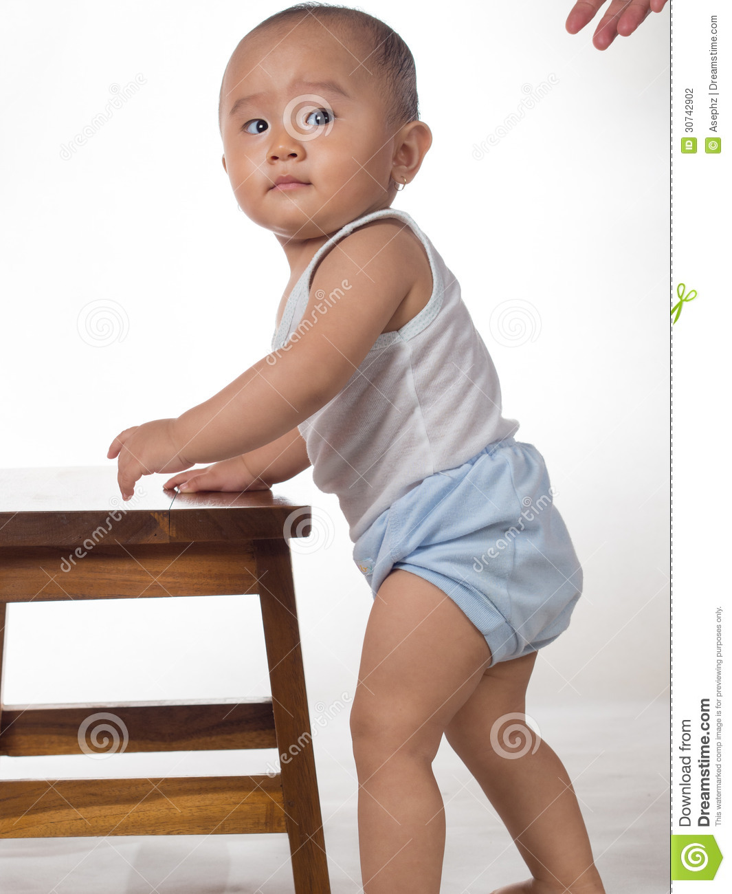 Baby Learning To Stand Stock Photography Image 30742902