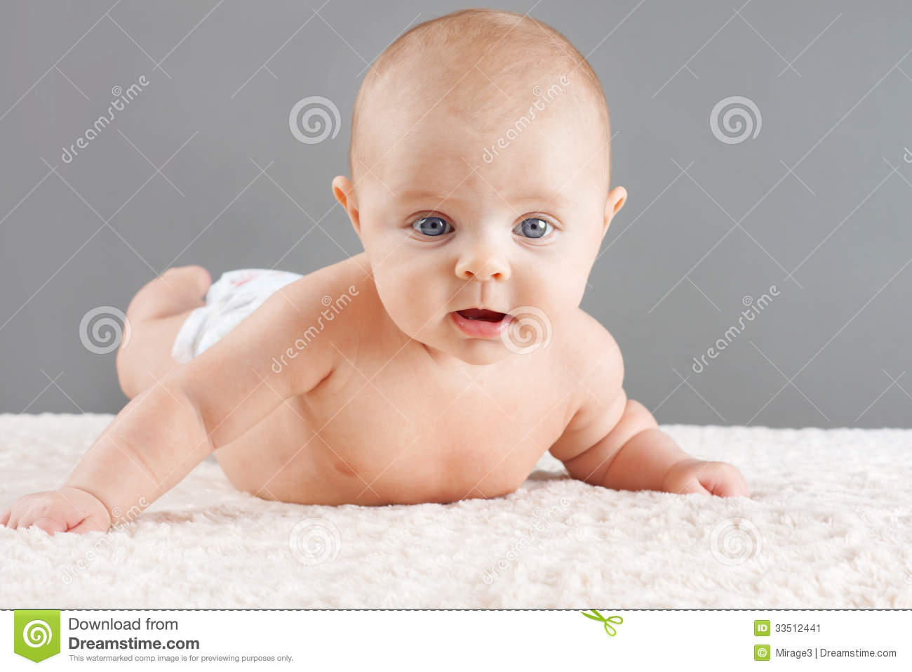 baby lifting head stock image image of making funny