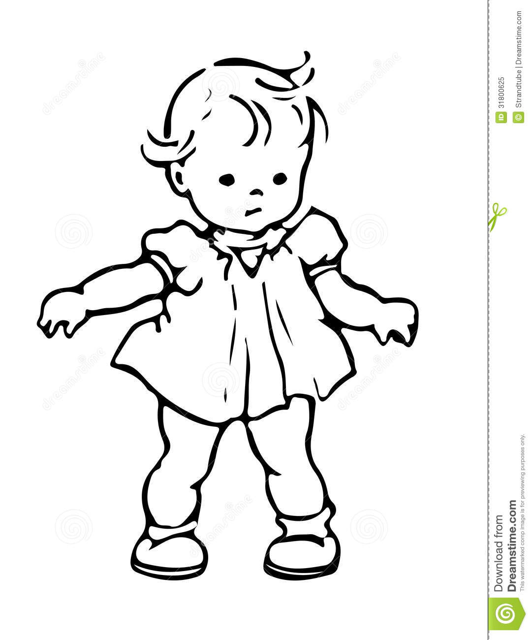 Line Art Baby : Royalty free stock photo baby image