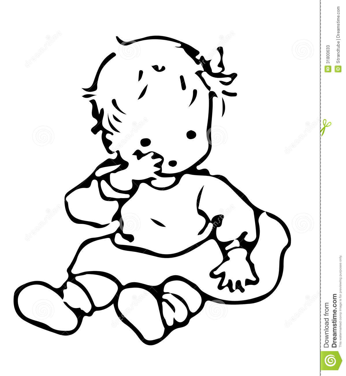 Line Drawing Baby : Stock photos baby image