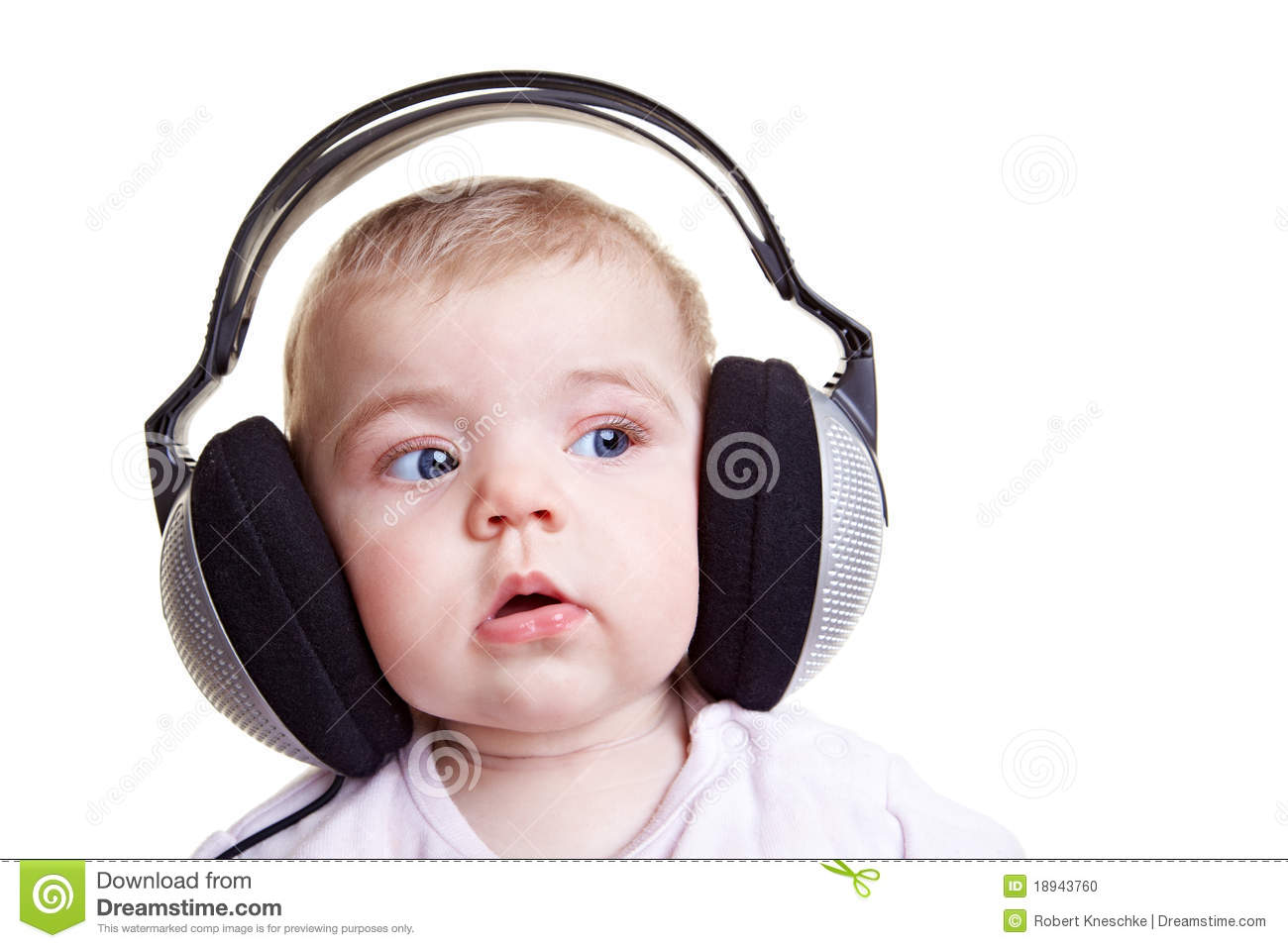 Baby Listening To Music Stock Photo  Image: 18943760