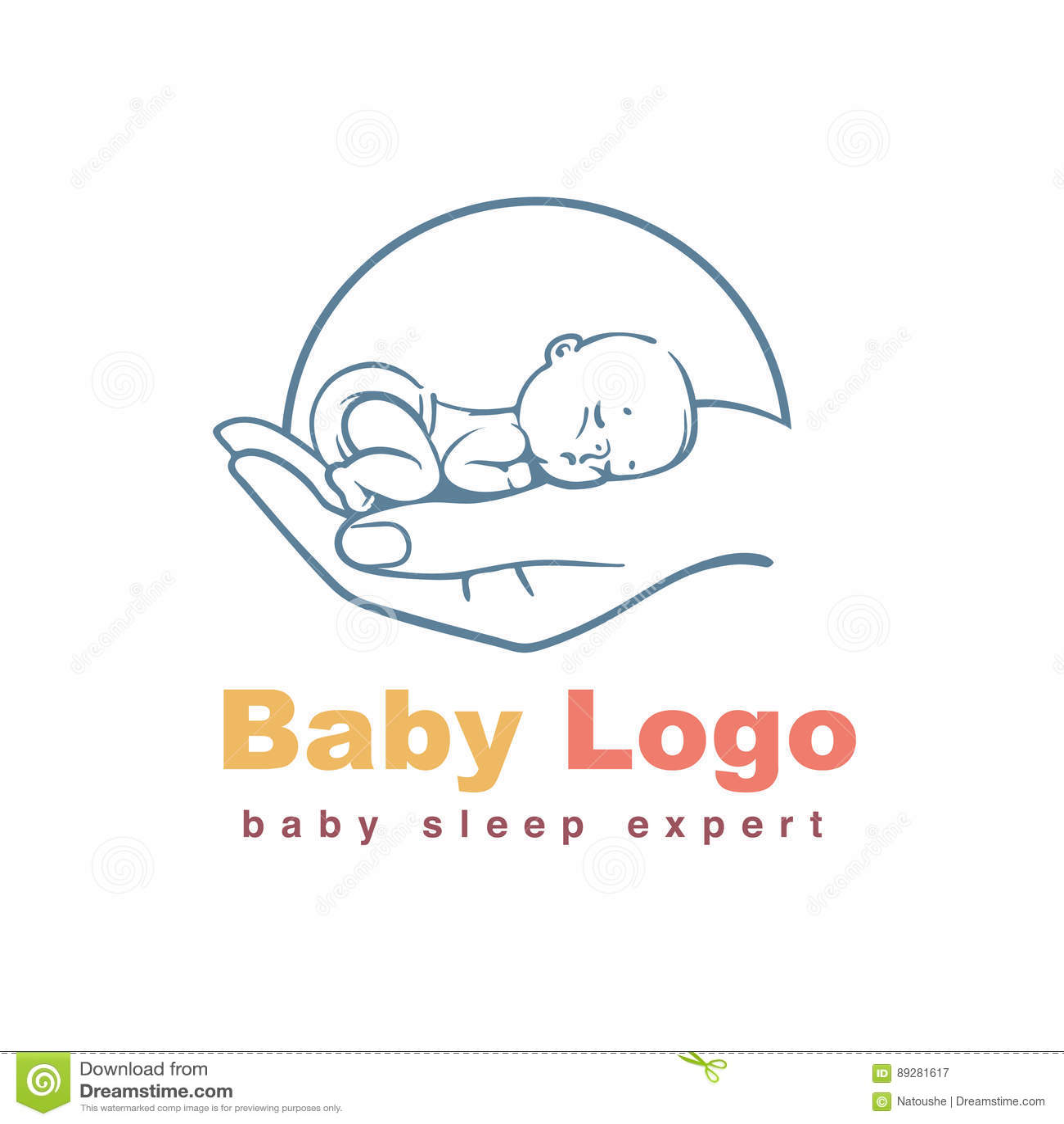 Baby Logo Template Stock Vector Illustration Of Diaper