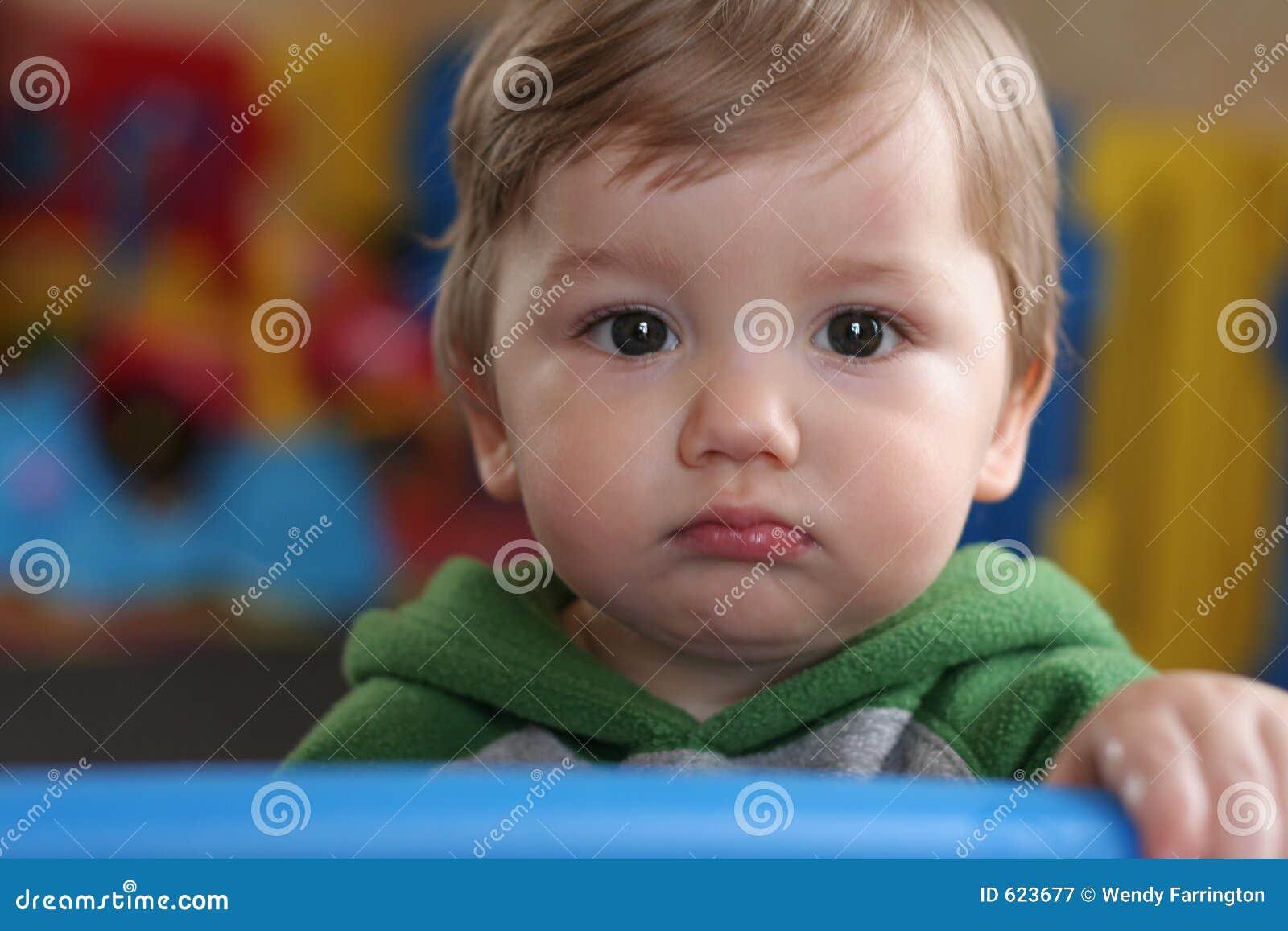Baby met bolle kop