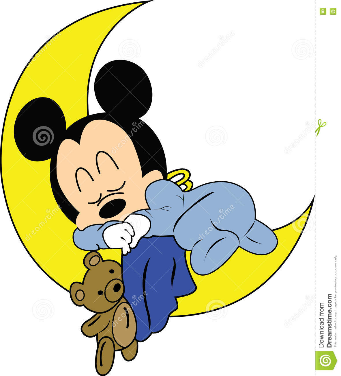 baby mickey mouse disney vector editorial stock image. Black Bedroom Furniture Sets. Home Design Ideas