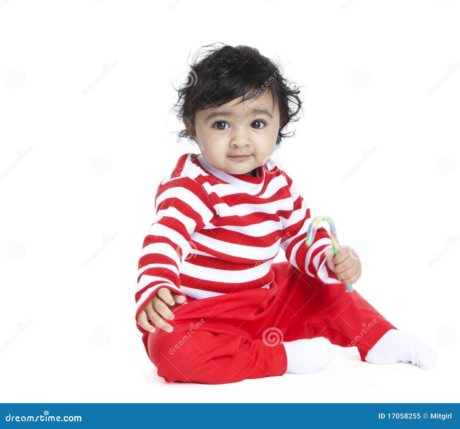Baby mit Zuckerstange