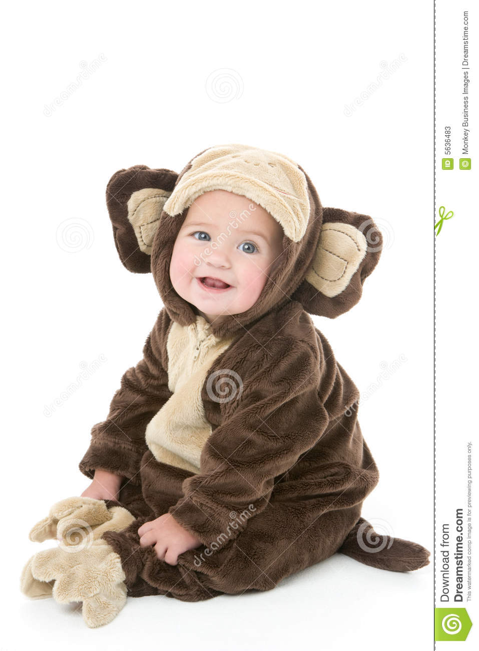 Baby In Monkey Costume Stock Photos - Image: 5636483
