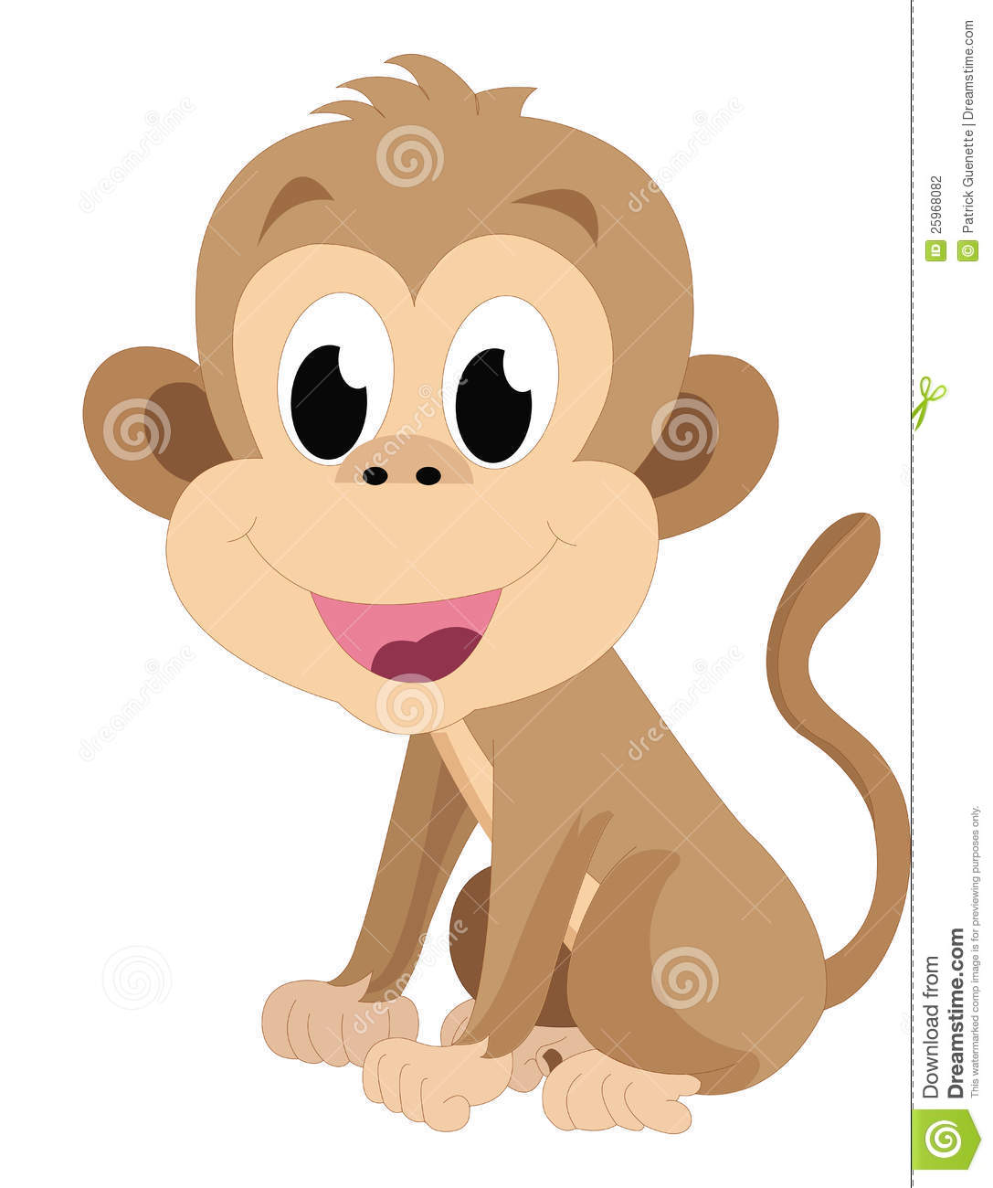 Baby Monkey, Illustration Stock Photography - Image: 25968082