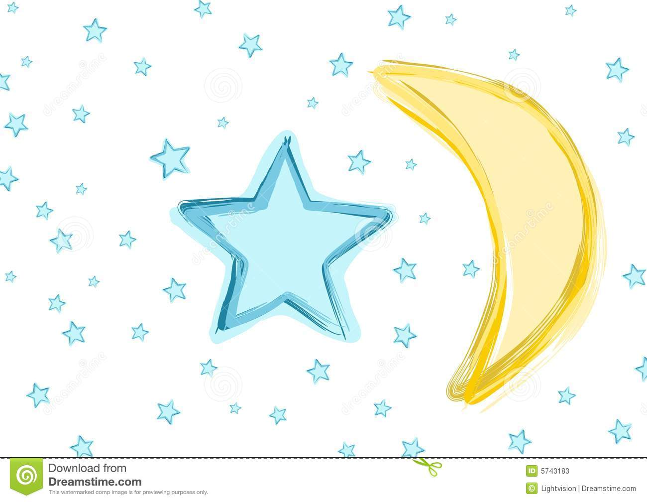 Baby Moon And Stars Stock Photos Image 5743183